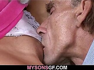 Old man got lucky with minority wet pussy