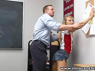 InnocentHigh Teacher fucks smalltits blonde teen