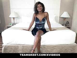 TeenyBlack - Hot Ebony Teen Gets Railed in Doggy