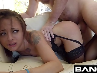 BANG Gonzo: Ebony Tiny Teen Holly Hendrix Deep Anal Pounding
