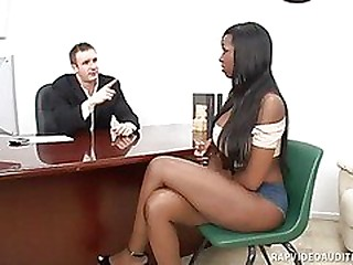 Busty Codi Bryant Creams On A White Cock