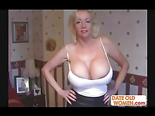Sexy grown-up with huge tits