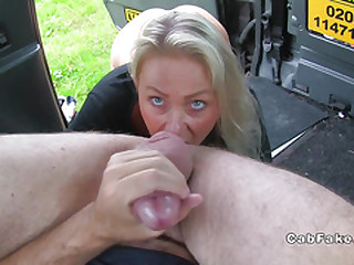 Blue eyed blonde rimming measure taxi driver