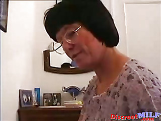 MILF in glasses gets fucked deep anal