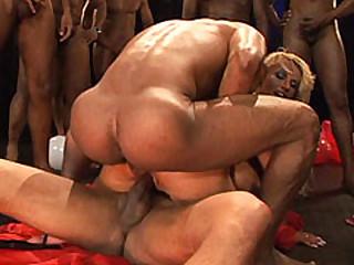 rio brazil extreme anal gangbang bukkake party