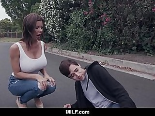 MILF - Fucking A Young Defy She Just Hit In Her Car